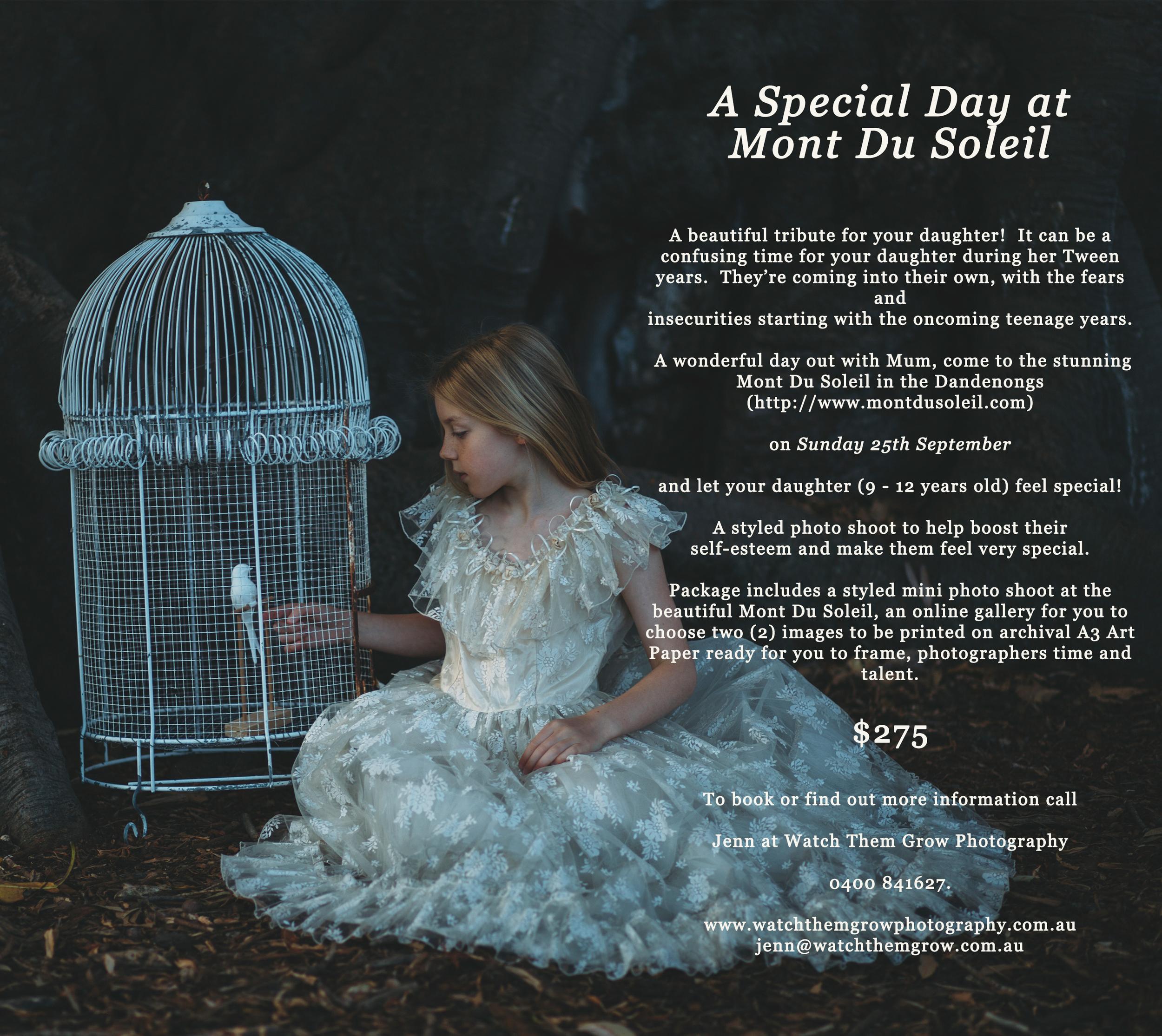 Tween girl Promotion Mont Du Soleil