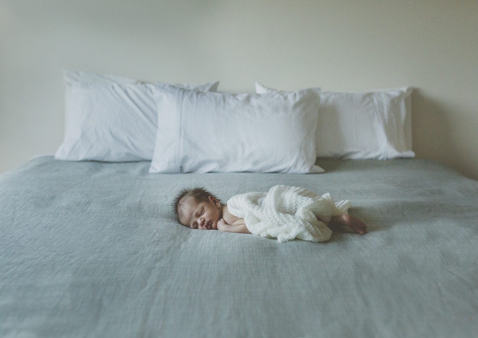 Baby on bed!