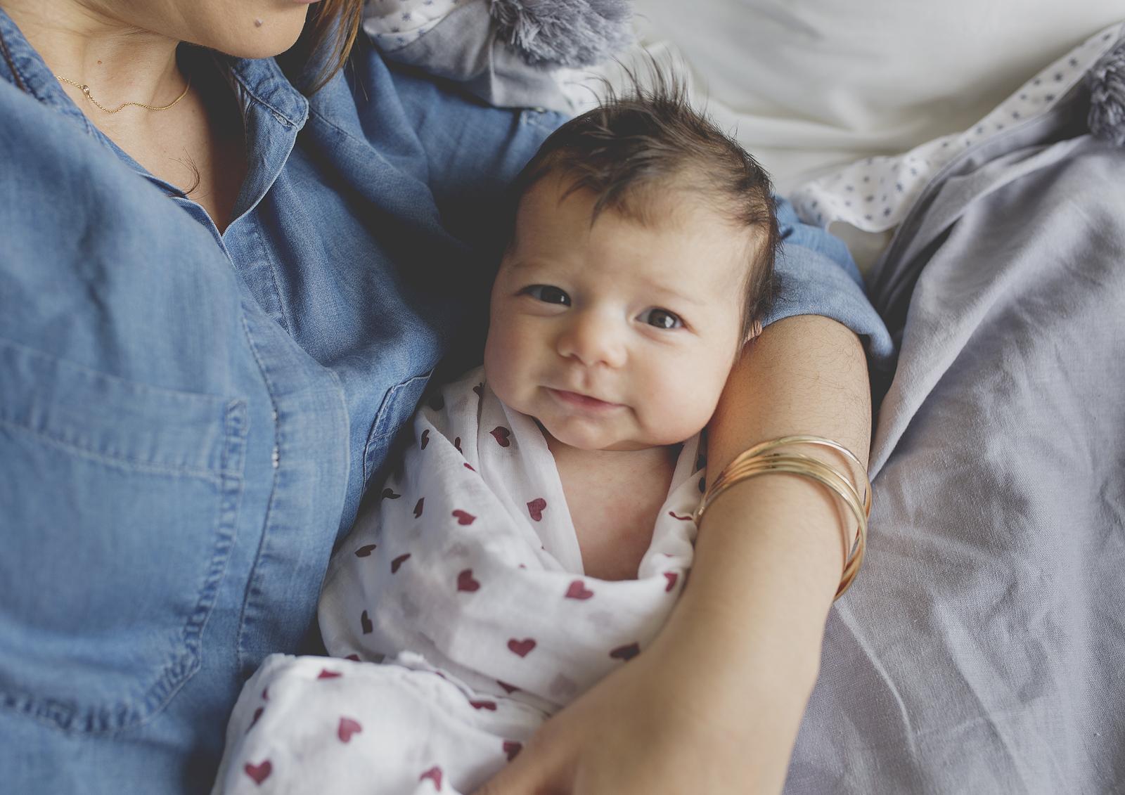 Smiling newborn baby!