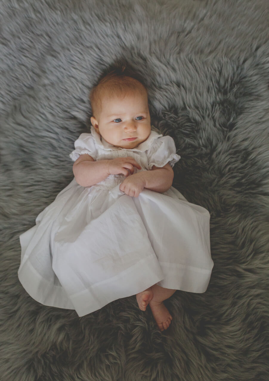Baby girls first special dress