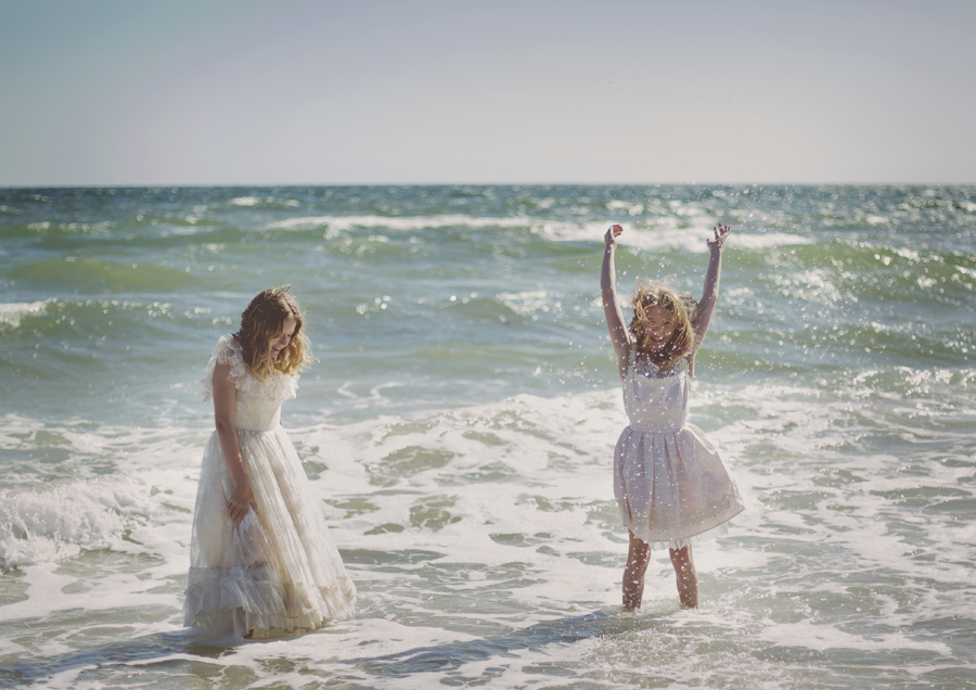 Tween girls playing at the beach!