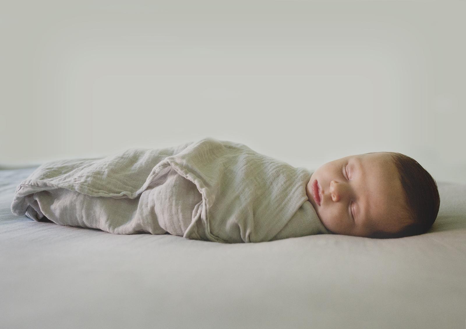 Peaceful newborn baby boy!