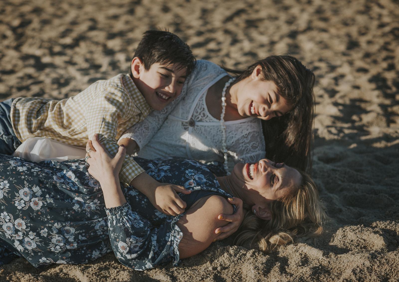 Family fun down at the beach!