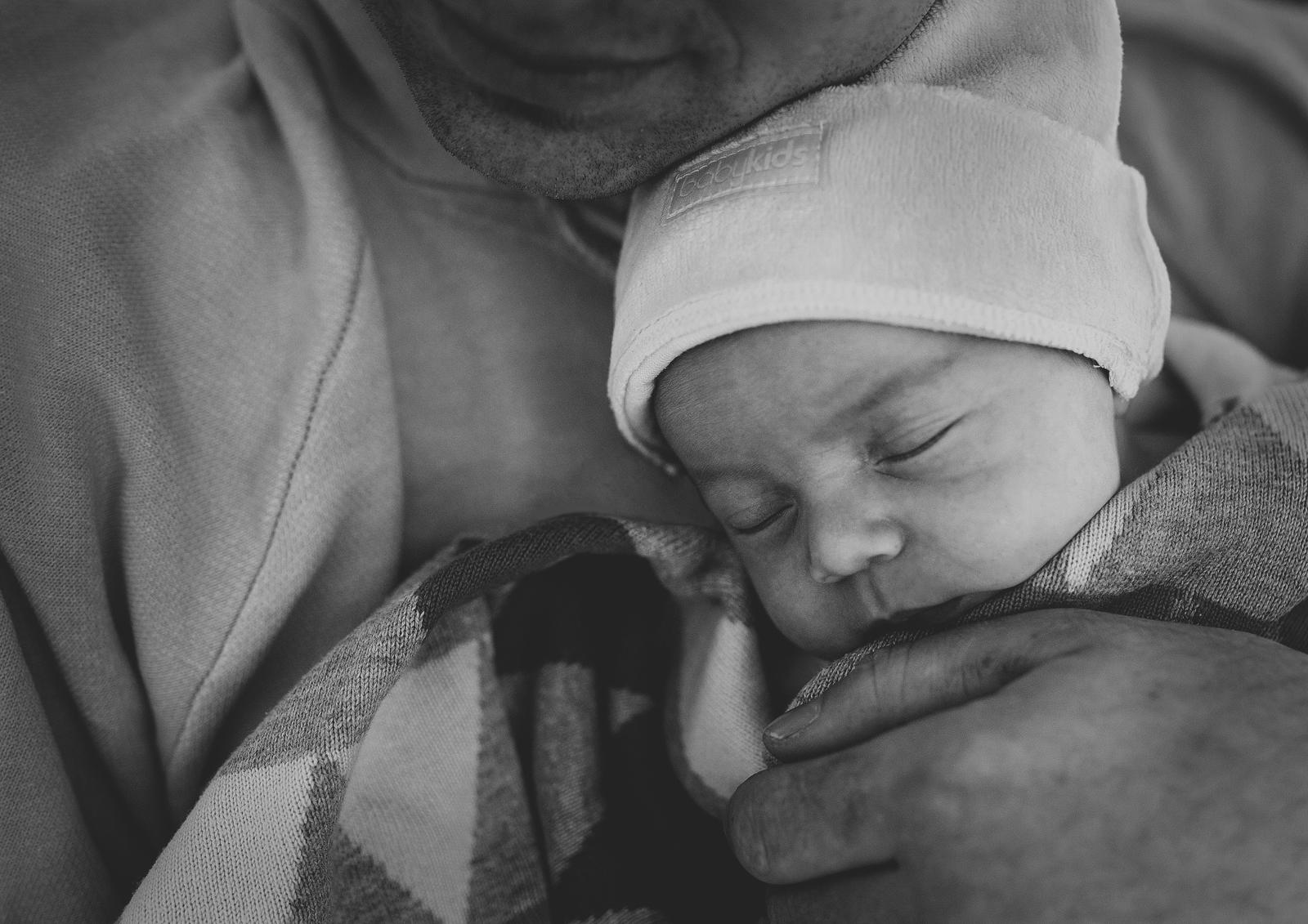Cuddles for newborn baby girl