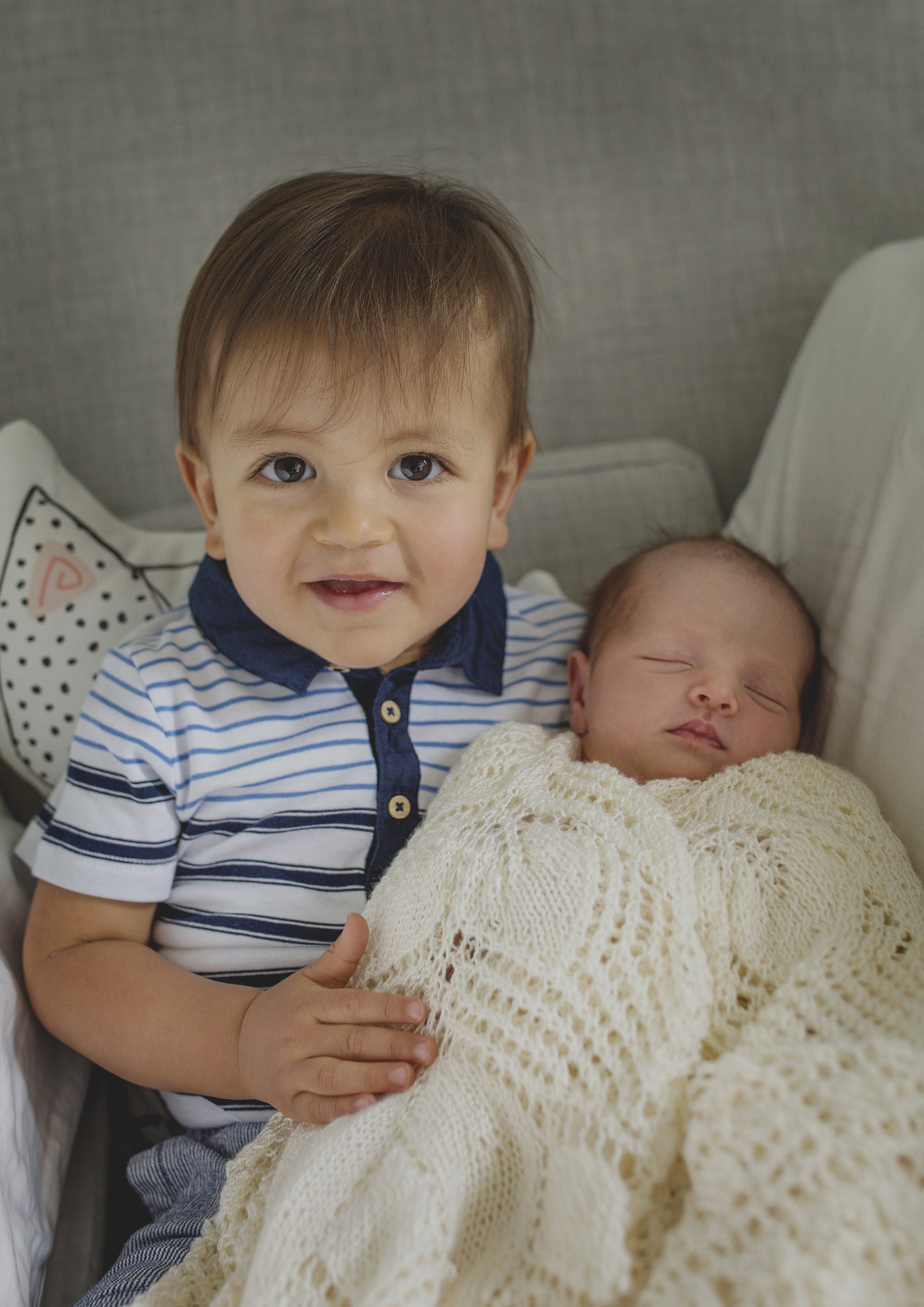 Big brother now has a newborn baby sister
