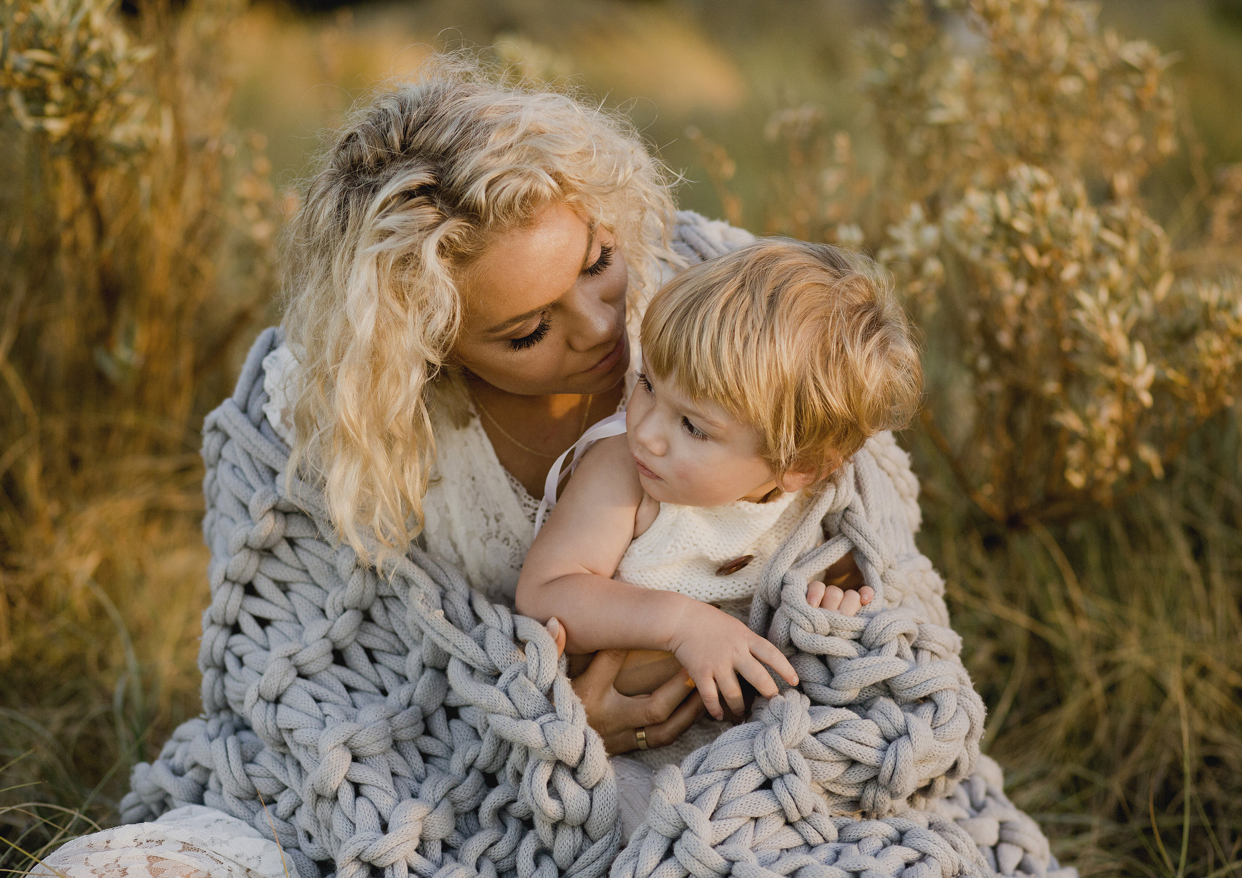 Mother and her 18 month old son photo shoot at the beach