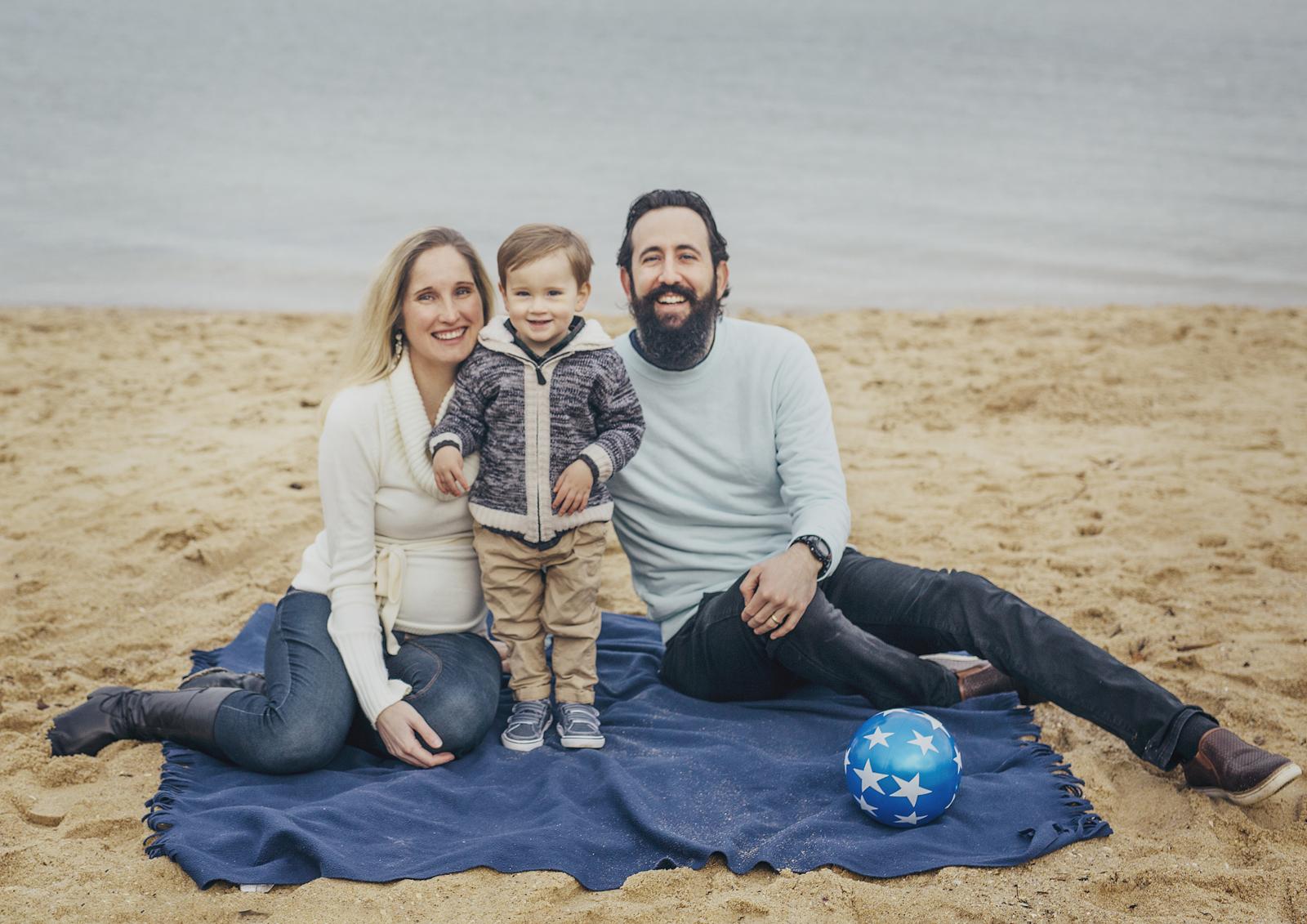 Family photo shoot down at Elwood beach