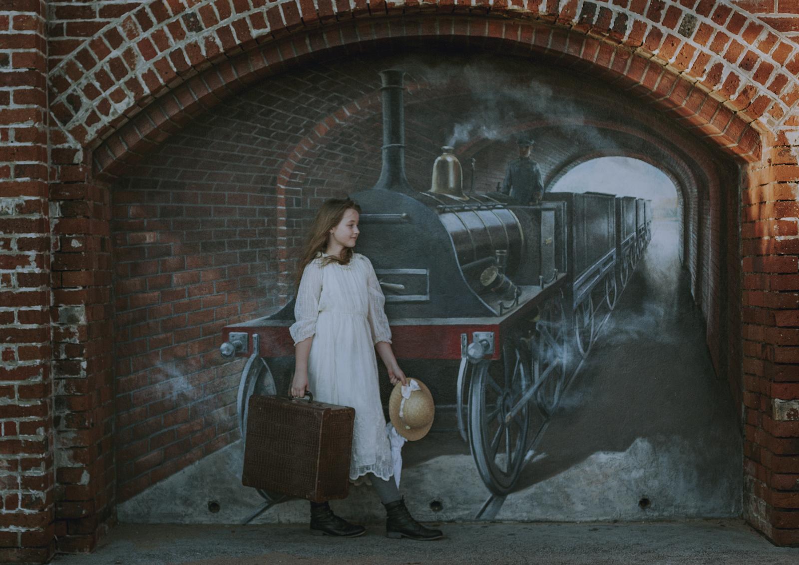 Historic Mural at Brighton Beach Melbourne for Tween Photo shoot