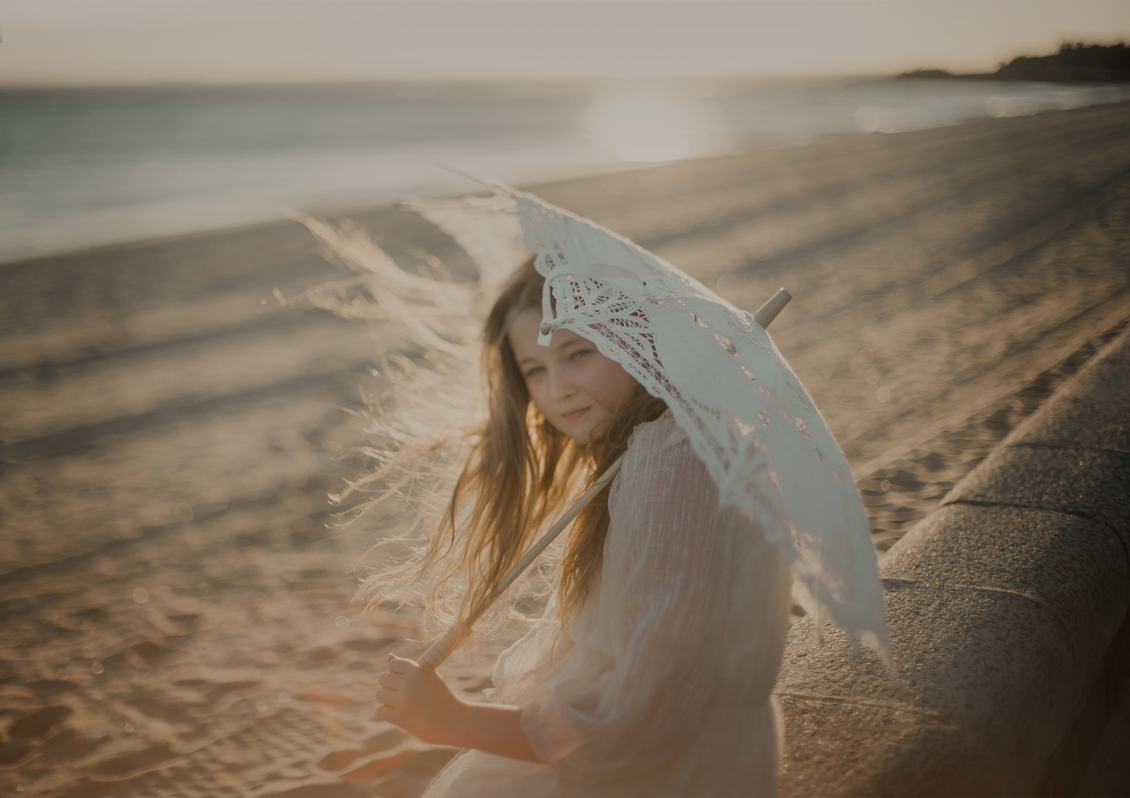 Freelensed photo of Tween girl