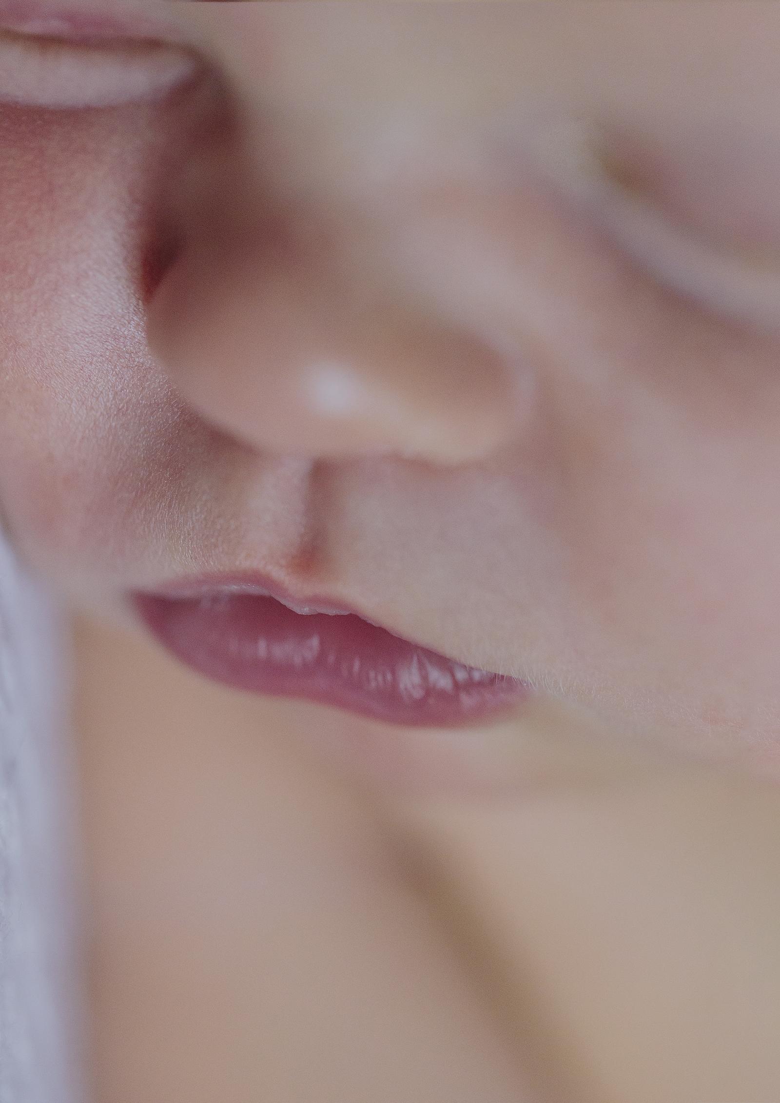 Newborn Baby tiny lips