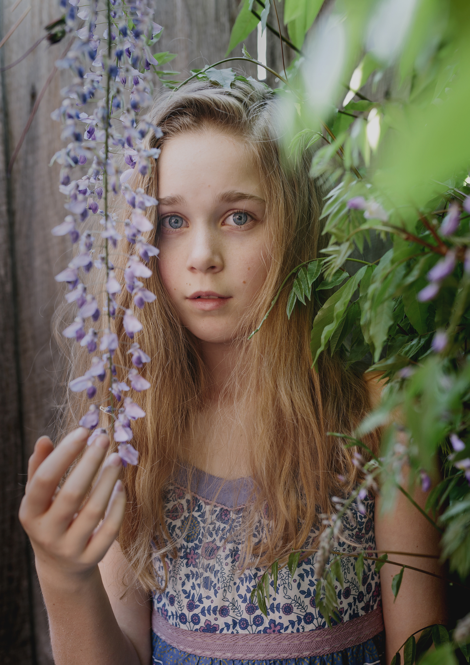 Tween Portrait in the Wysteria