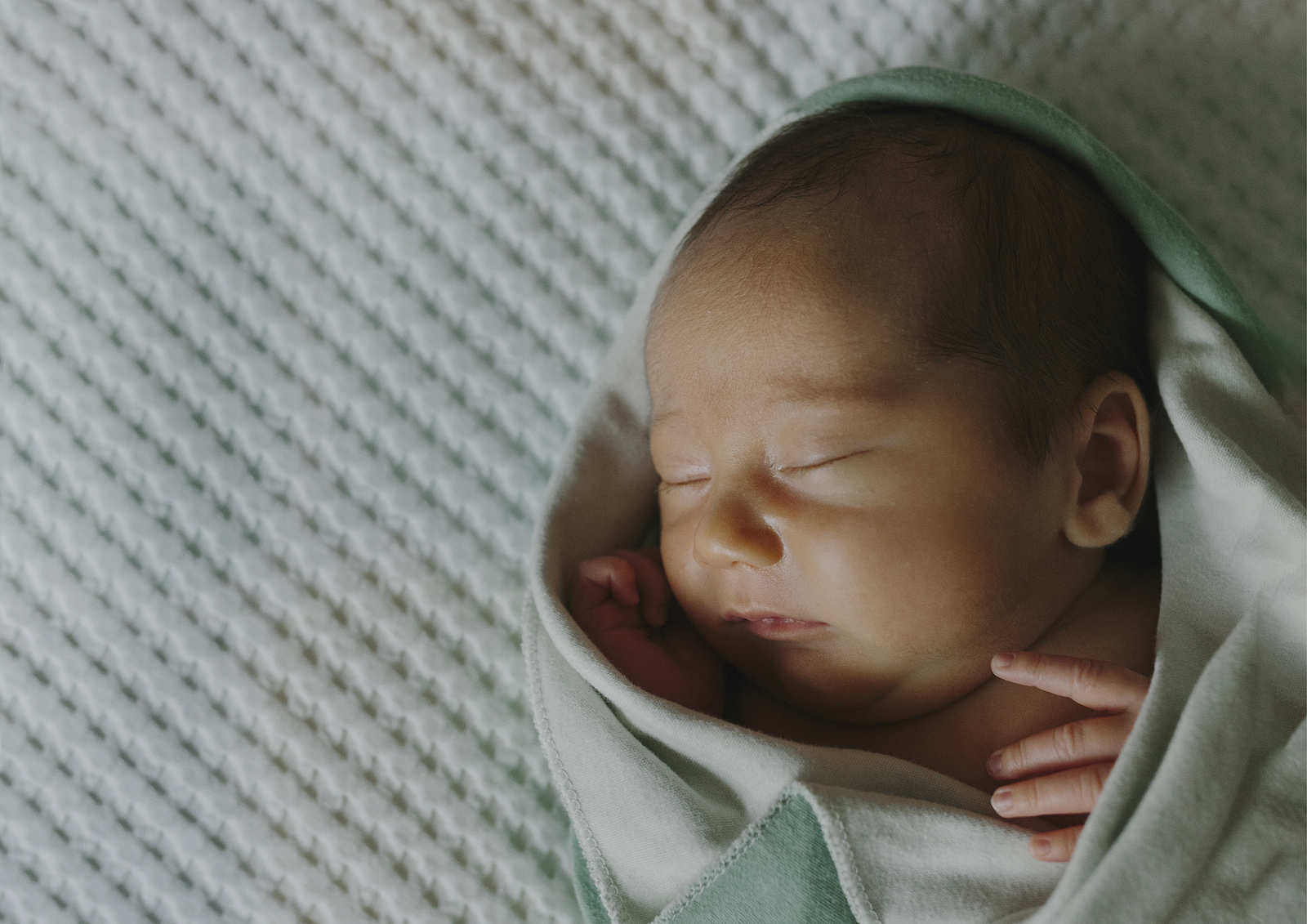 Beautiful newborn baby boy
