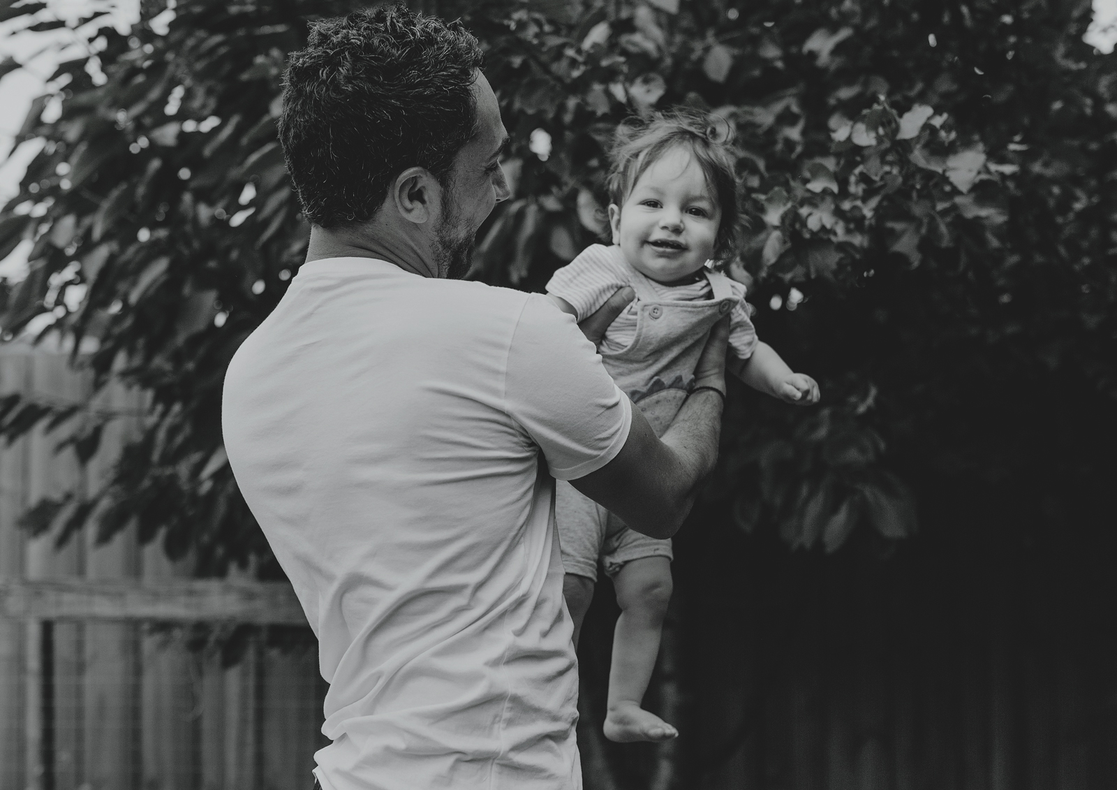 Baby Boy playing with his Daddy