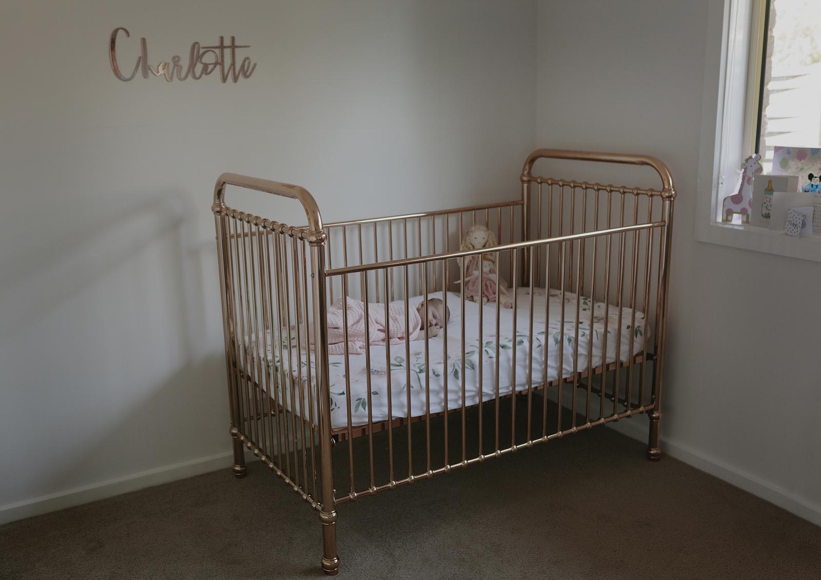 Newborn Baby Girl's Cot
