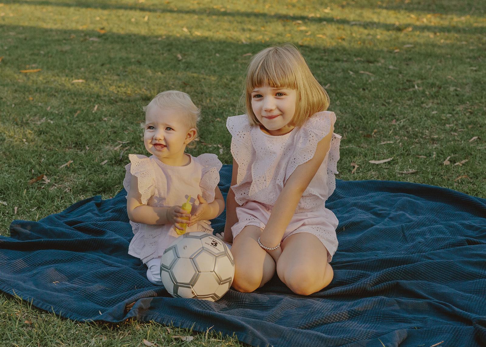 Sisters having fun at the park