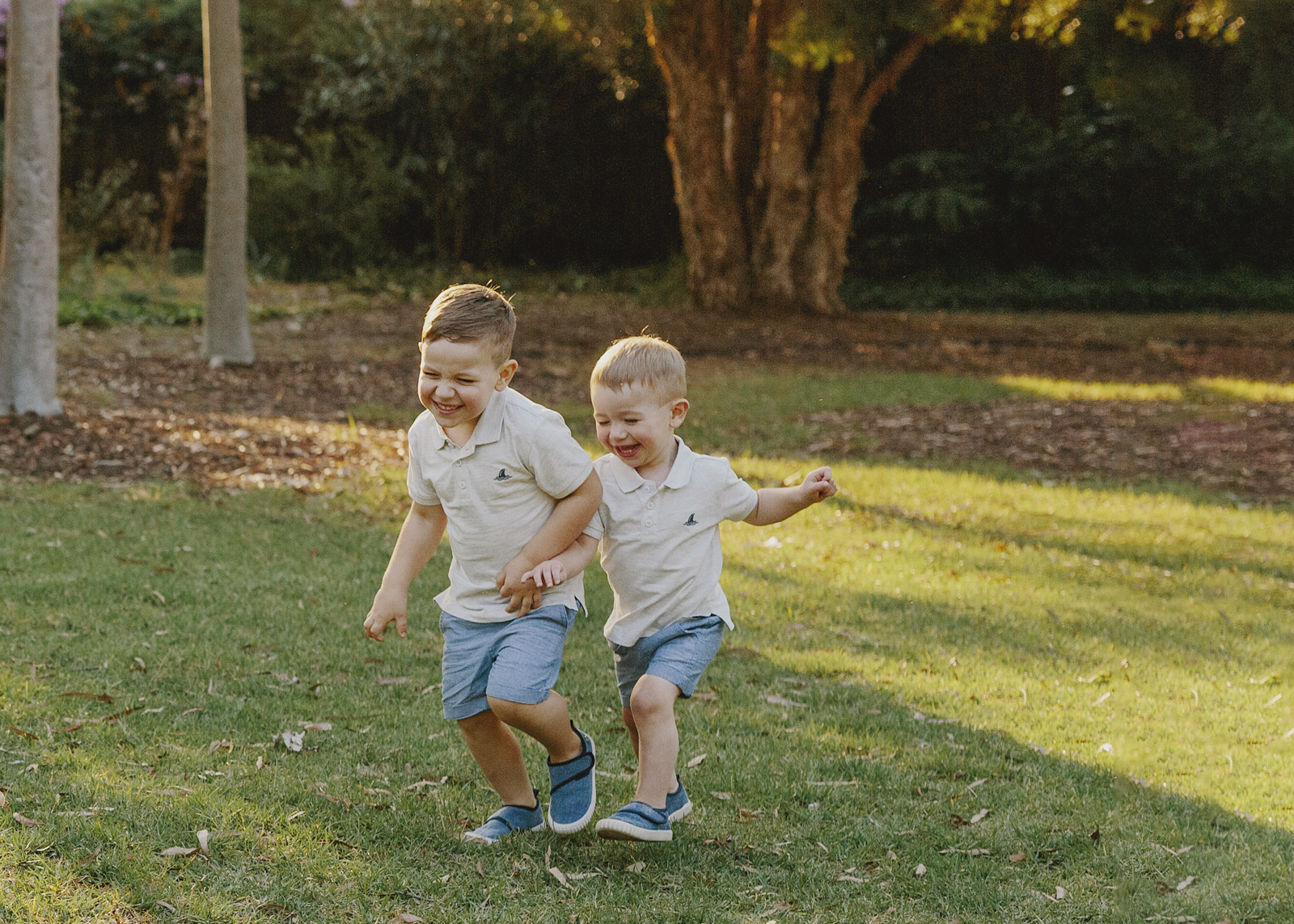 Brothers playing together at Family Photo Shoot