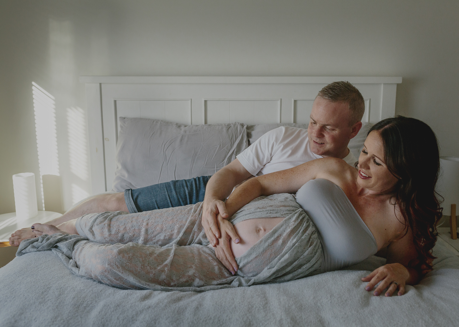 In Home Maternity Photo Shoot