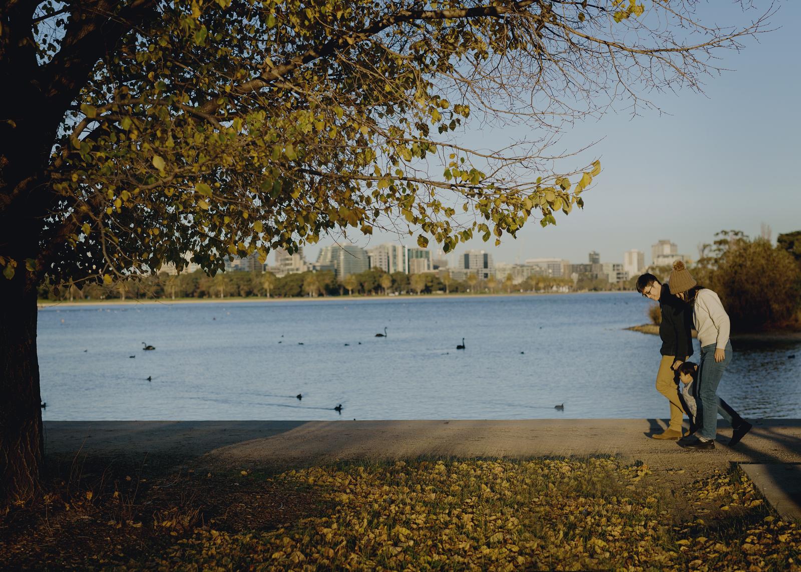 Family fun at Albert Park Lake
