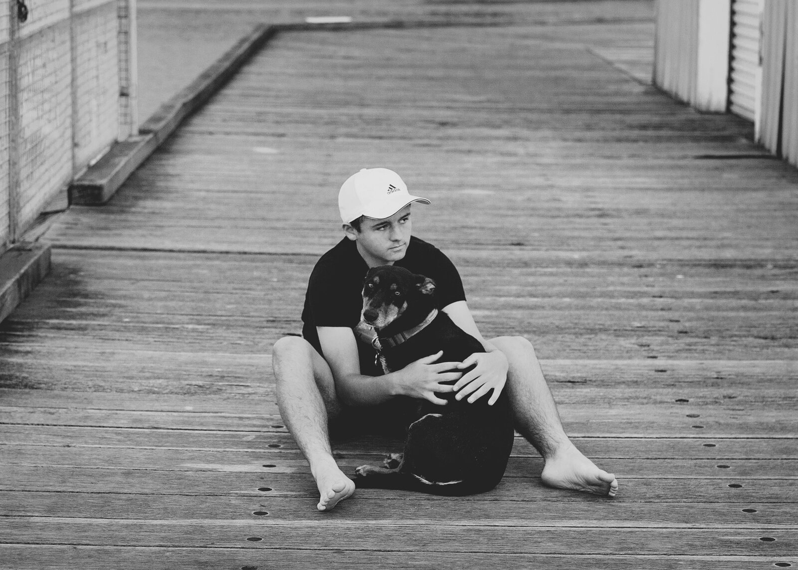 Teenage Boy and his dog