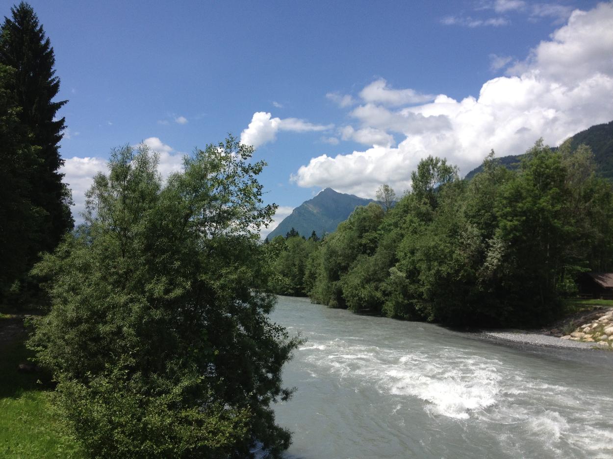 River in Morillon, France
