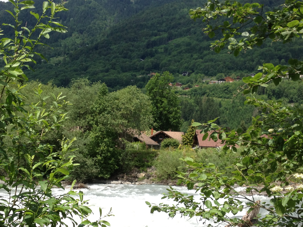 Stream running through Morillon, France