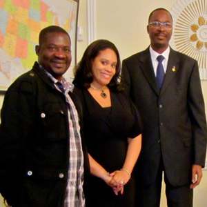 Prince Wendemi, Princess Angelique Monét and   Ambassador of  Burkino Faso