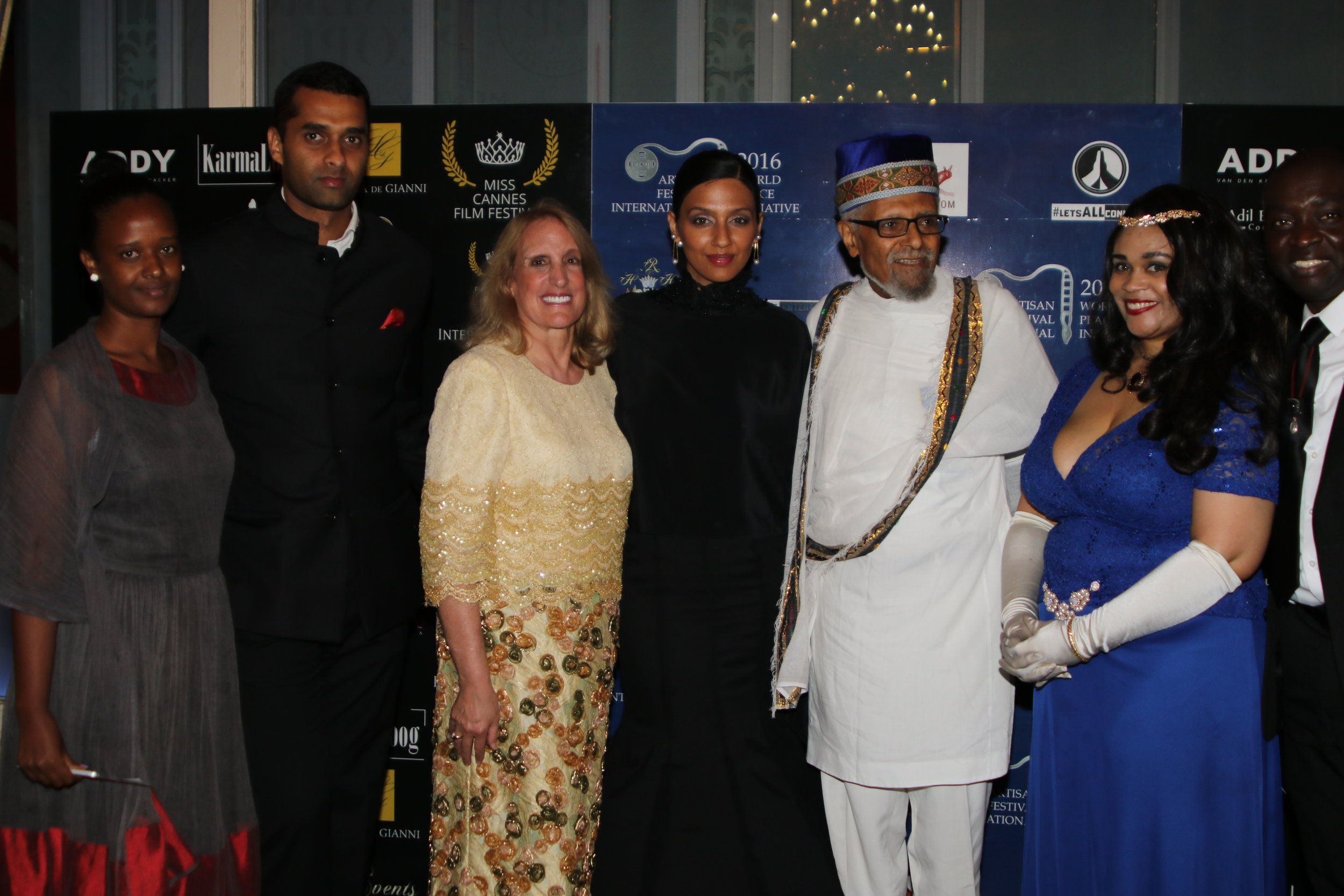 Cast and Producers of Two Zions: The Living Legacy of the Queen of Sheba and King Solomon. Producer  Cheryl Halpern  and Dr. Ephraim Isaac with A.F.I./W.P.I. Founder HRH Princess Angelique Monét.