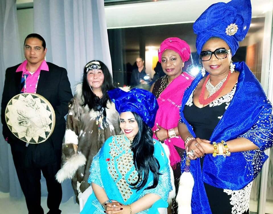 "HRH Princess Angelique ""Ademiposi"" Monet, of Aquitaine and of HRMA Oba Adedoyin Anoki 11 Royal House, Remo Kingdom Sub-Saharan West Africa"