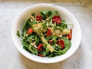 Rocket Artichoke Salad Health Kitchen