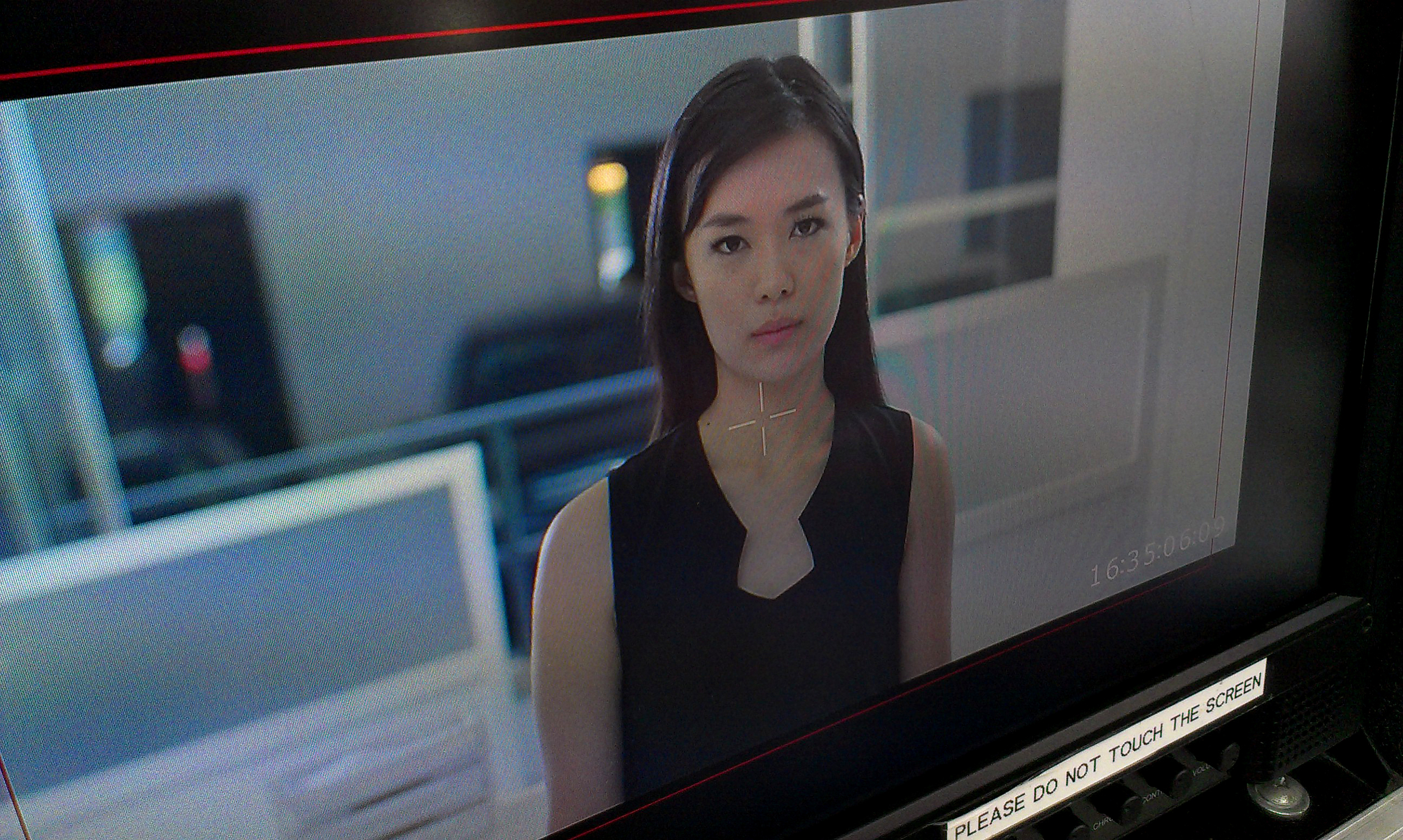 Mediacorp Artiste Rebecca Lim getting ready for action.