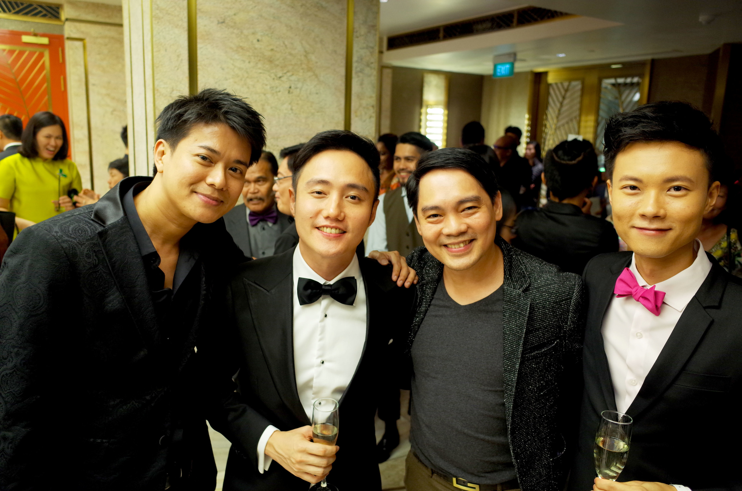 Azman and Chris with director Boo Jun Feng and producer Leon Cheo