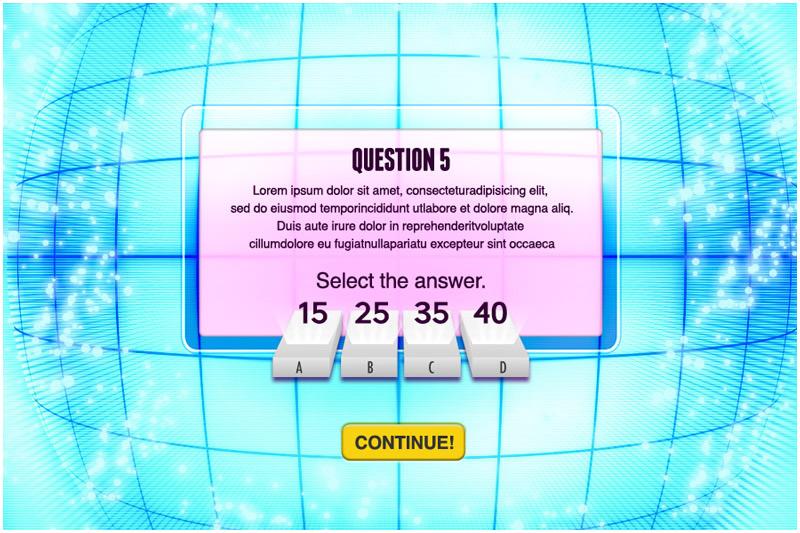 Brainship Quiz sample page