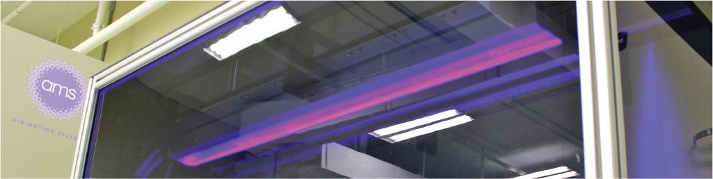 UV LED testing chamber at AMS