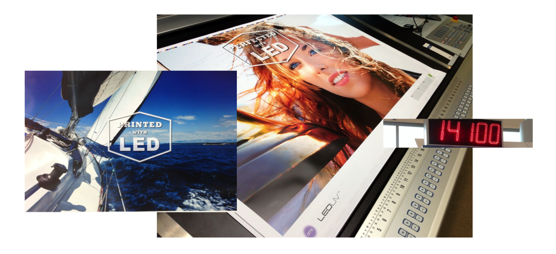 AMS LED UV systems print and perfect at top press speeds in sheetfed offset lithographic printing. The results are superior to H-UV and UV.