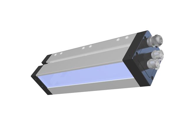 AMS Peak LED UV XP5 Flexo Series module with emitter window shown