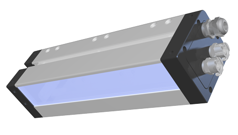 AMS Peak LED UV XP3 Final Cure module with emitter window shown
