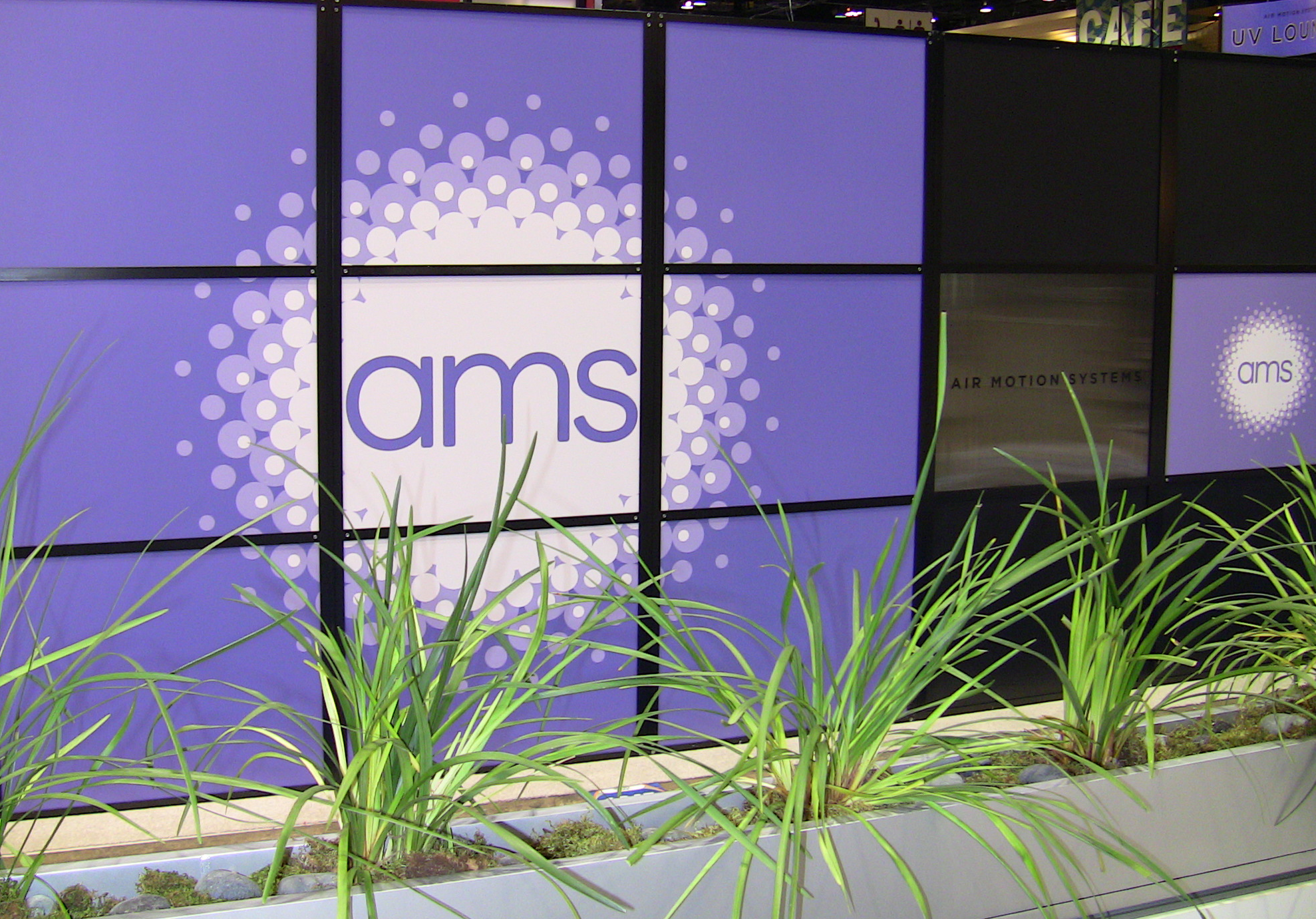 AMS UV Lounge exhibit at the PRINT show in Chicago