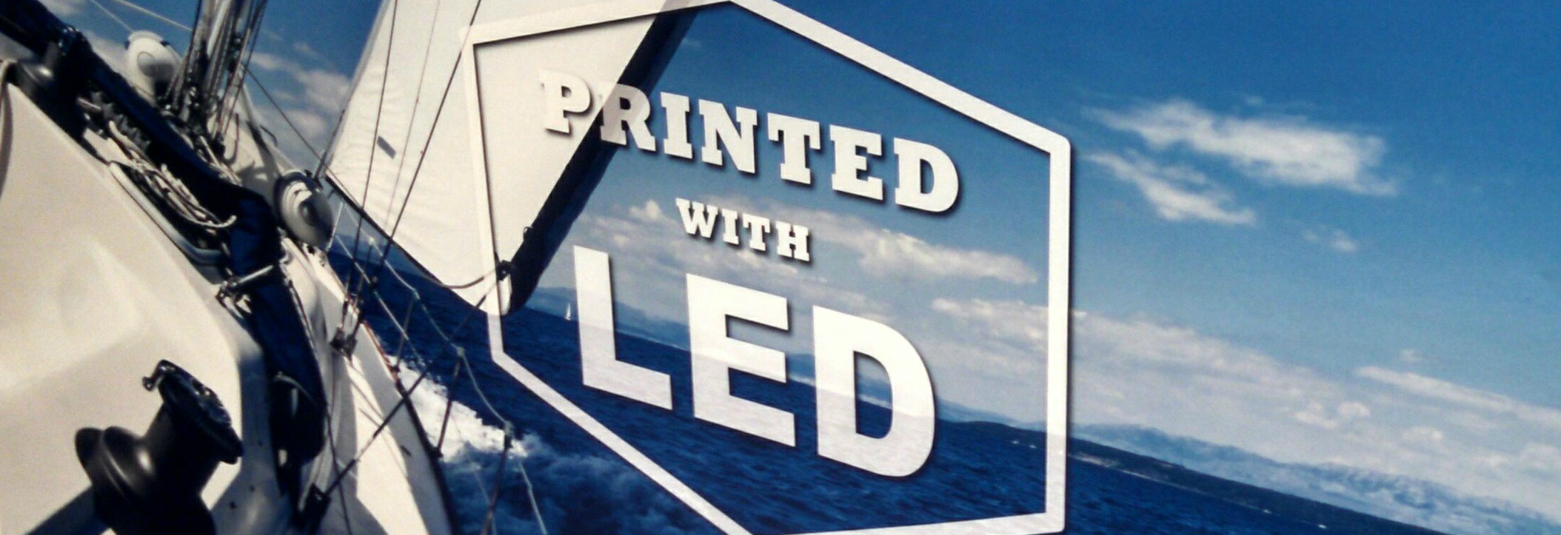 Printed with LED