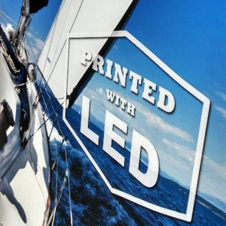 LED image quality is higher        than conventional printing, especially on difficult substrates.