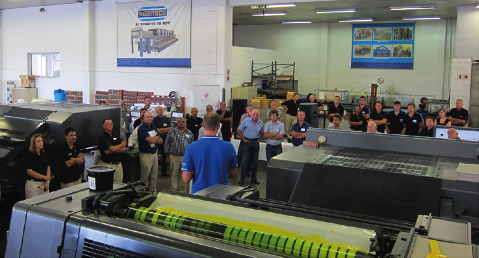 Over 200 visitors attended the latest AMS LED UV Open House organized by Printech in Cape Town, South Africa, over the second week of March 2015