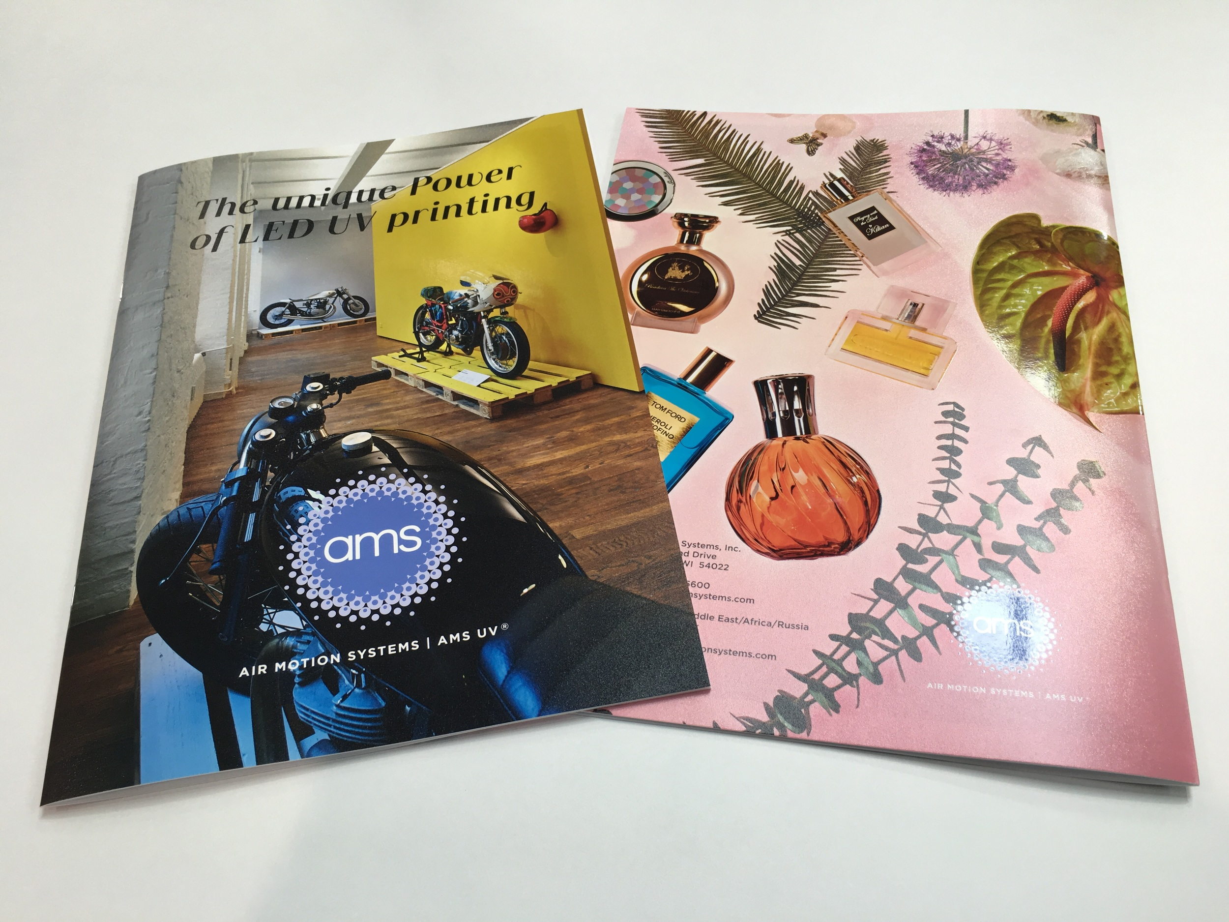 "The first ever AMS LED UV ""Look Book"" features a brilliantly-designed display of how value can be enhanced on sheeted offset machines."