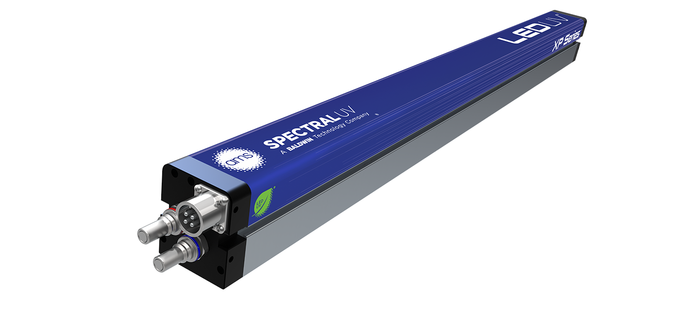 The XP Series LED-UV curing module from AMS Spectral UV - A Baldwin Technology Company.