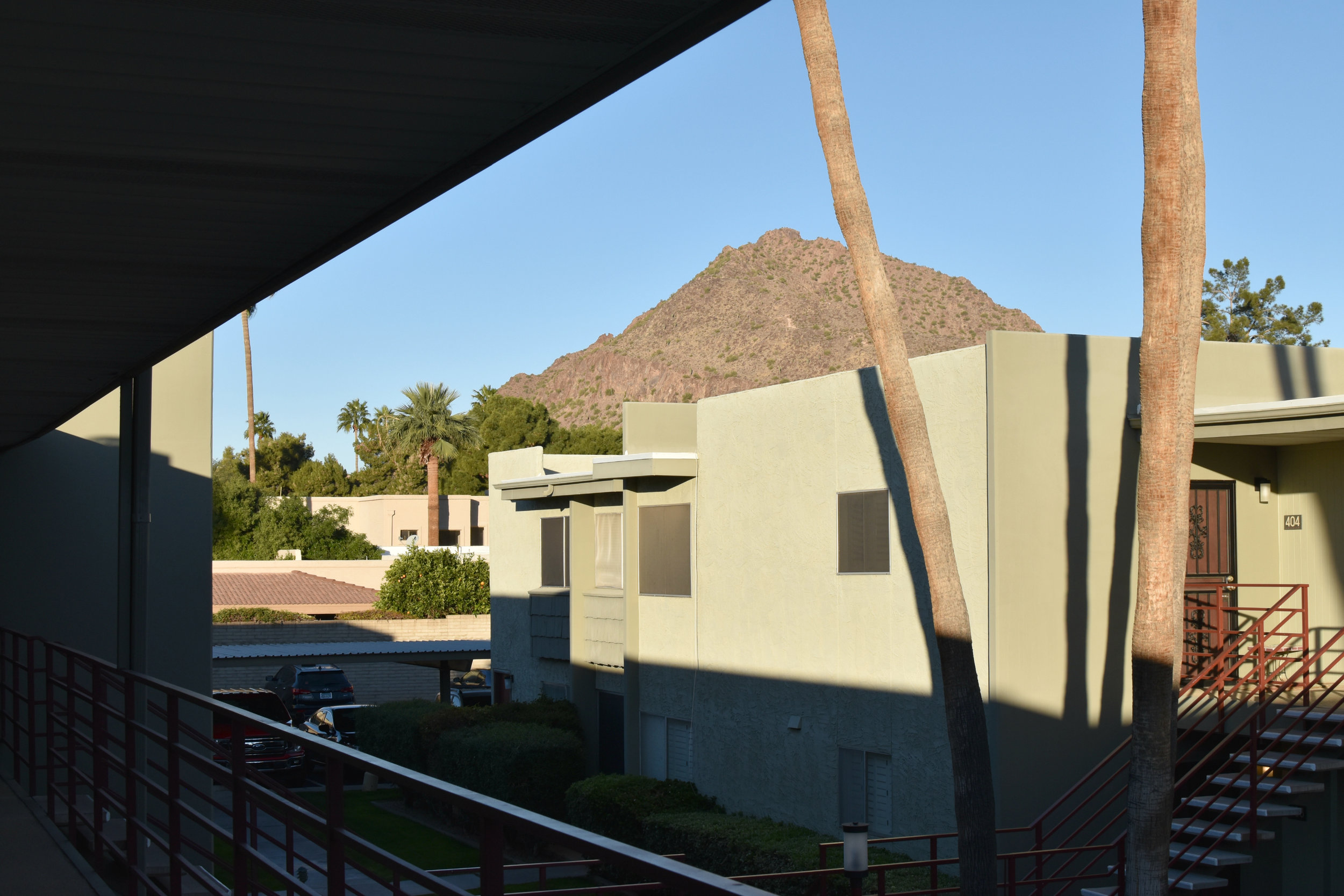 The view of Camelback from our door