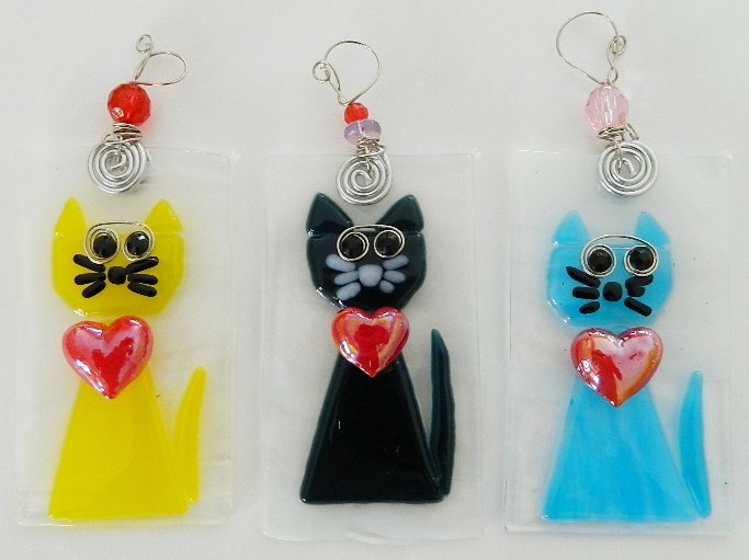 Cat Ornaments, $18 each.