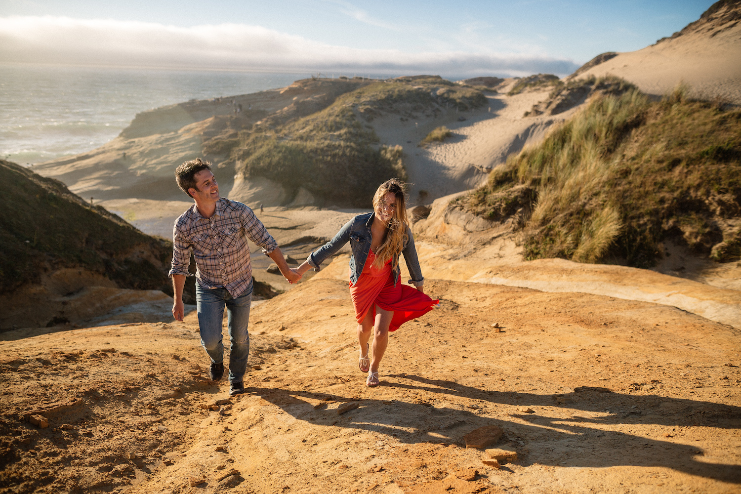 Cape Kiwanda, Pacific City, Oregon Engagement Photographer