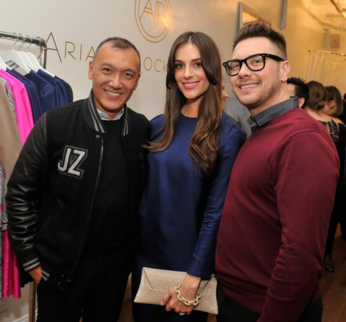 Ariana Rockefeller poses with  Joe Zee , the Creative Director of  Elle .