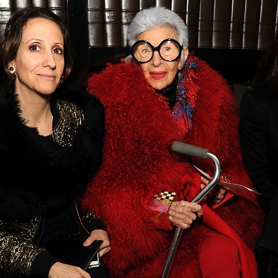 Laura & Iris Apfel, 2014 Ralph Rucci