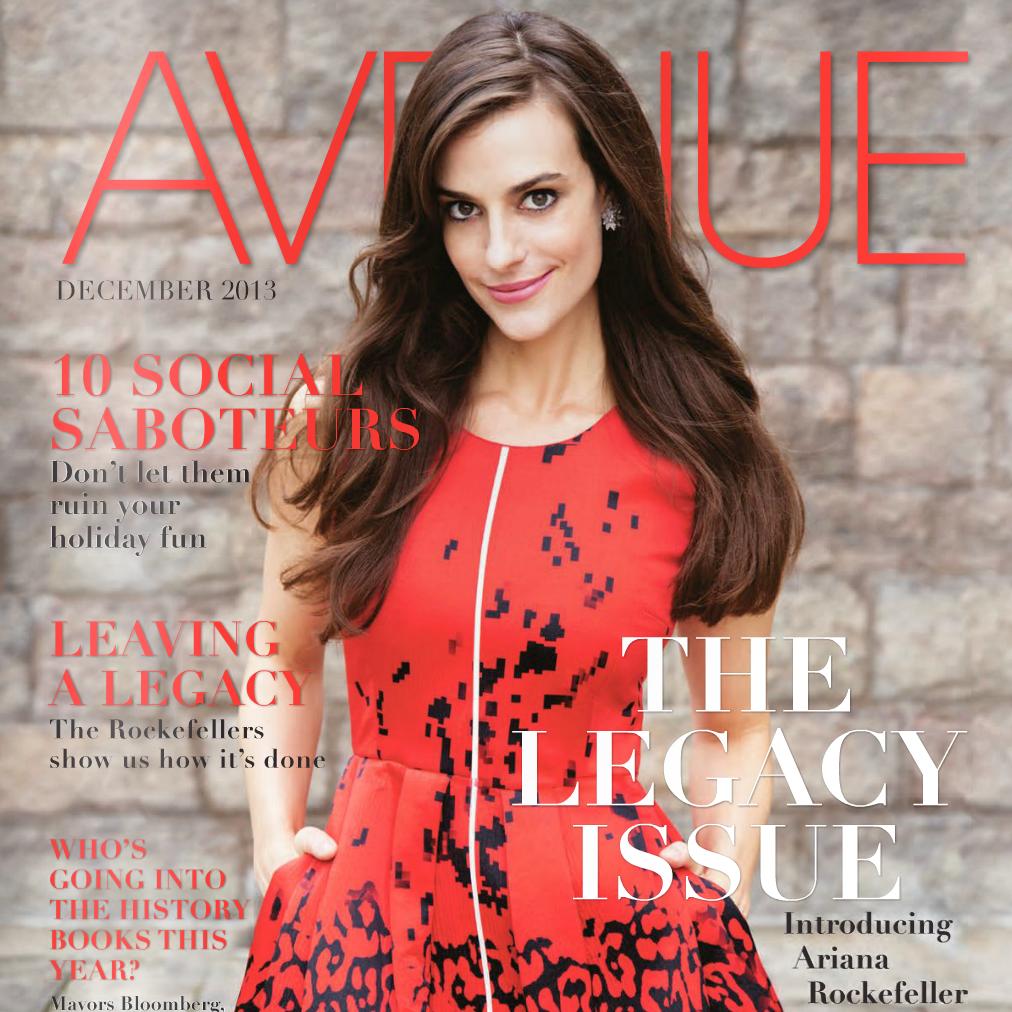 Ariana Rockefeller, Avenue Magazine