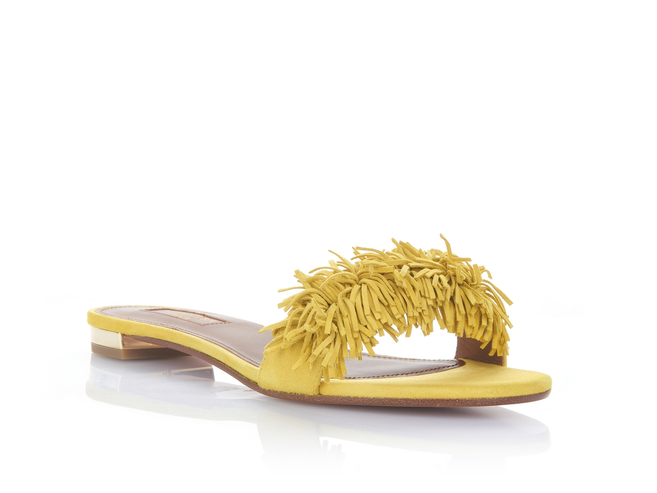 These slipper like slides are guaranteed to put a little spring in your step in the city, country or beach side. - Aquazurra Wild Thing Slide Flat                          aquazzura.com                                                       $475