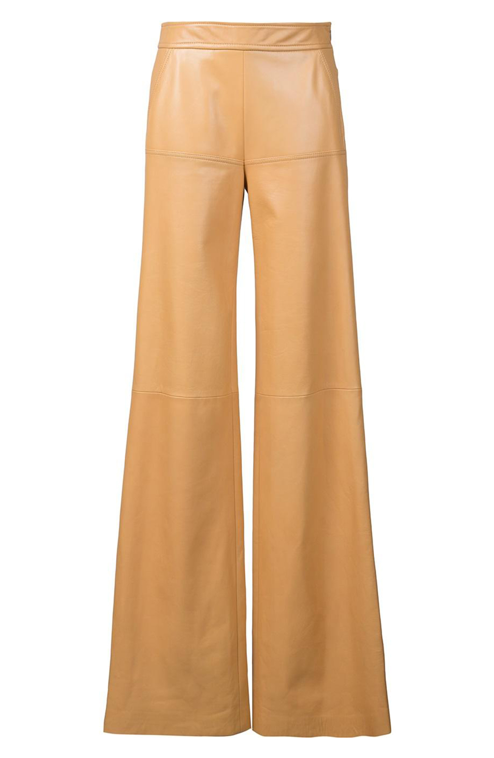 Butterscotch leather flairs are edgy, yet professional - and an excellent departure from your typical work pants.  - Derek Lam Leather Trouser                                    dereklam.com                                                          $1,180